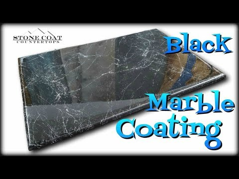 Black Marble Coating Over Old Countertops Youtube