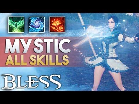 Bless Online | Mystic Skills | All Active Skills | RU 2017 Gameplay