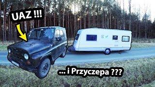 UAZ + Przyczepa Kempingowa KNAUS !!! - Militarny Zestaw Kempingowy (Vlog #256)