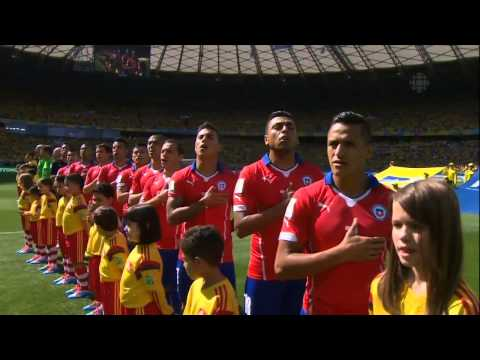Brazil vs Chile National Anthems FIFA World Cup 2014