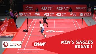 R1 | MS | CHOU Tien Chen (TPE) vs Anthony Sinisuka GINTING (INA) | BWF 2018