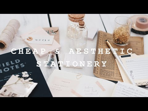 where to find cheap & aesthetic stationery