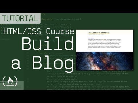 HTML/CSS Tutorial - Build A Beautiful Blog