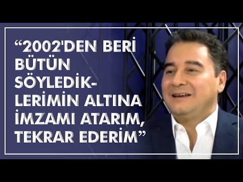 """Ali Babacan: """"2002'den beri bütün söylediklerimin altına imzamı atarım, tekrar ederim"""""""
