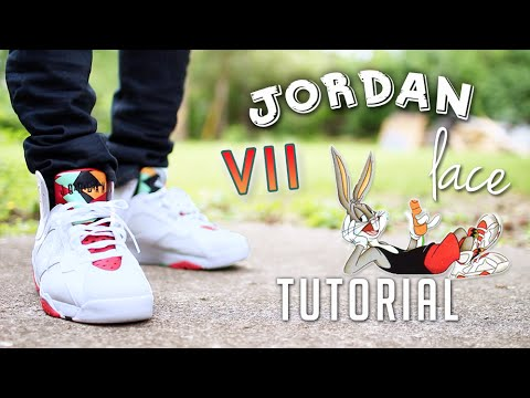 f961c3354a6 3 Ways To Lace Jordan 7's | Featuring