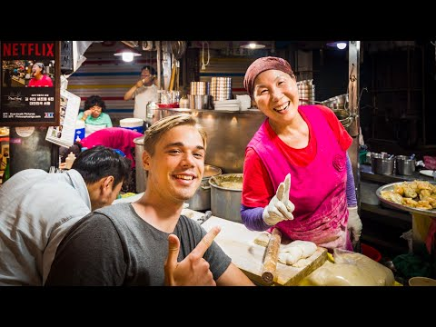 EPIC Korean STREET FOOD Market of Seoul – Gwangjang Market Tour *Netflix Special Episode*