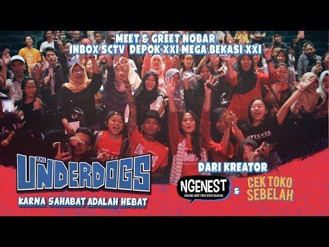 THE UNDERDOGS Meet & Greet di Inbox Nobar Depok XXI & Mega Bekasi XXI