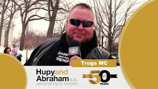 Motorcyclists Wish Hupy and Abraham, S.C. A Happy 50th Anniversary