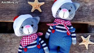 Амигуруми: схема Котик Джереми. Игрушки вязаные крючком - Free crochet patterns.