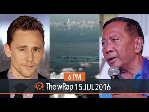 PH vs China, Binay's bail, Tom Hiddleston   6PM wRap