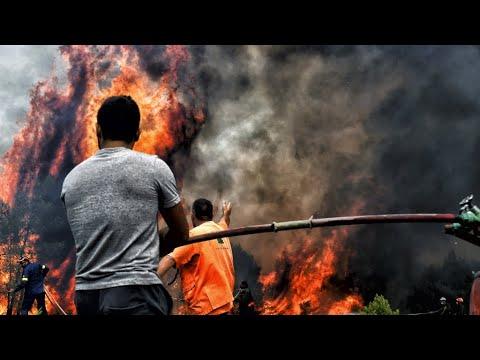 اليونان تعلن الحداد على أرواح أكثر من سبعين قتيلا قضوا في الحرائق