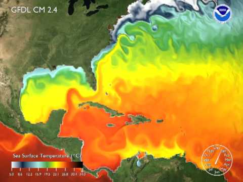 Worldwide Sea Surface Temperature Simulation (2008) [3D converted]