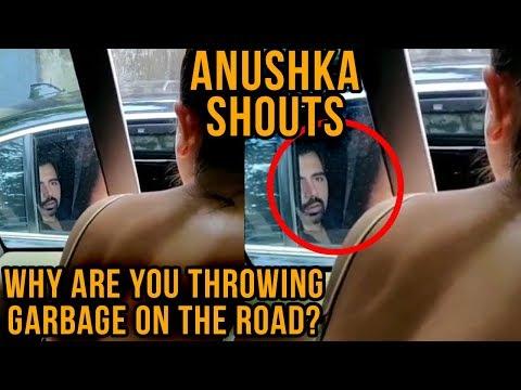 Virat Kohli Shoots Anushka Sharma SHOUTING At Man Throwing Garbage