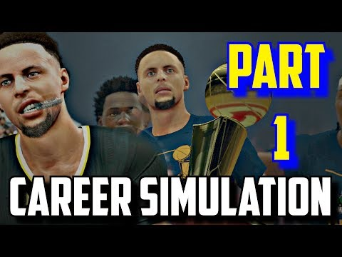 SIMULATING STEPHEN CURRY'S NBA CAREER IN NBA2K17!!(2009-2027) PART 1!