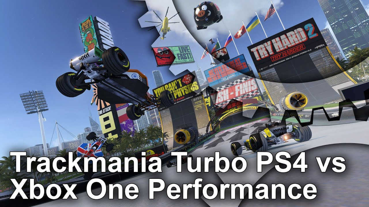 trackmania turbo ps4 vs xbox one frame rate test youtube. Black Bedroom Furniture Sets. Home Design Ideas