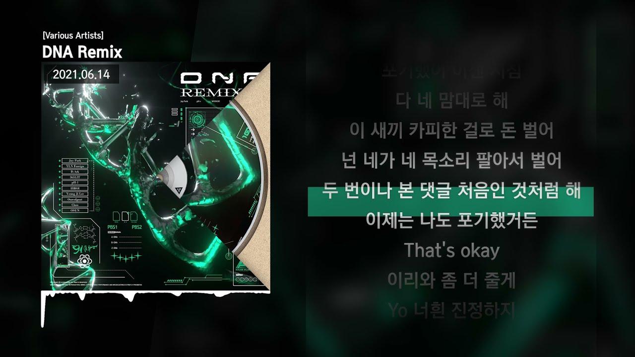 DNA Remix - 박재범, YLN Foreign, D.Ark, 365LIT,pH-1, 릴보이 (lIlBOI), 이영지,Ourealgoat, Choo, OSUNㅣLyrics/가사