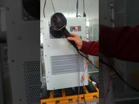 Shanghai Warner telecom 500W 220VAC cabinet air conditioner testing before shipping