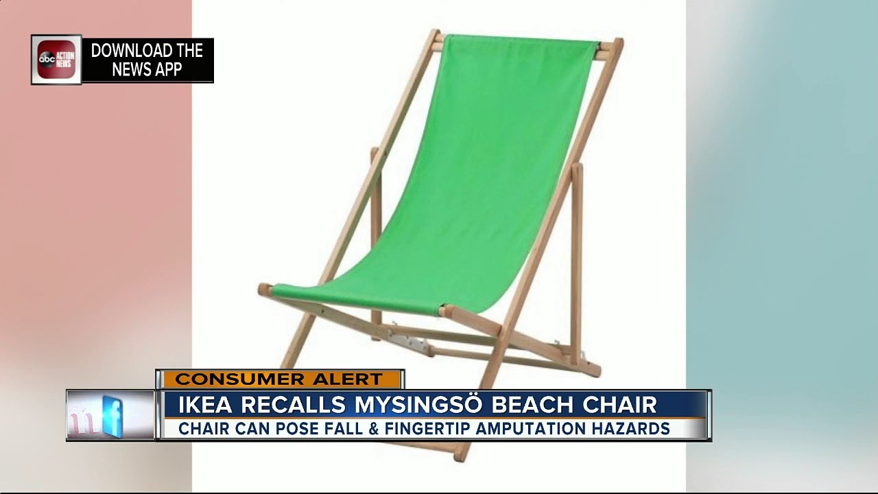 Ikea Beach Chair Kreg Jig Adirondack Plans Recalls Chairs Due To Fall And Fingertip Amputation Hazards