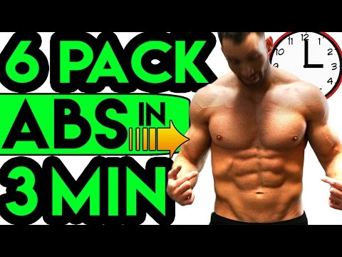 How to Get a SIX PACK in 3 MINUTES at Home FAST ➠ Best Ab Workout for Men, Women, Kids, Boys, Girls