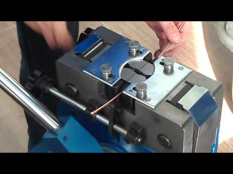 Cold Pressure Welding Machine To Joining Copper Cables Youtube