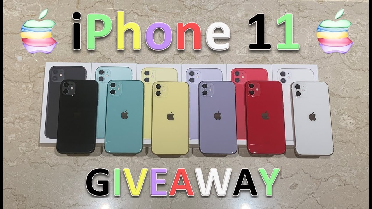 Unboxing Every Color iPhone 11 + Review & Giveaway [OPEN AS OF JUL 2020]