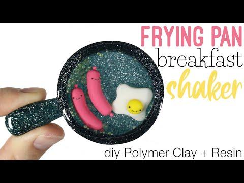 How to DIY Frying Pan Breakfast Shaker Polymer Clay/Resin Tutorial