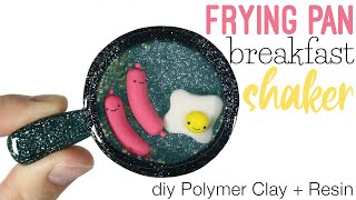 How to DIY Frying Pan Breakfast Shaker Polymer Clay/Resin Tutorial