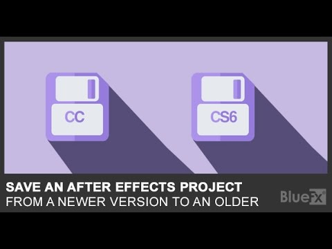 Save AE CC 2015 project as AE CS6 project