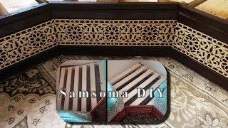 صنع قنات للسداري المغربي وطريقي في تحويل سداري عادي الي سداري بقنت -- صنع سدادر للصالون المغربي -