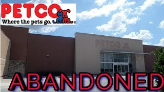 abandoned target and petco shopping center