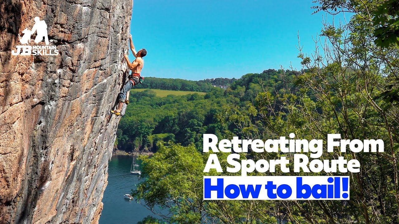 How To Bail Off A Sport Route...