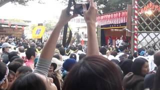 下総三山七年祭り2015 菊田神社神輿の昇殿