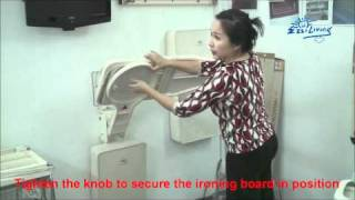 Ez Wall Mount Ironing Board Product Demonstration