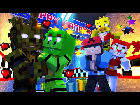 Minecraft FNAF 6 Pizzeria Simulator HIDE AND SEEK - HAPPY FROG IS IN LOVE! (Minecraft Roleplay)