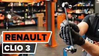 RENAULT CLIO III (BR0/1, CR0/1) Kormány gömbfej beszerelése: ingyenes videó