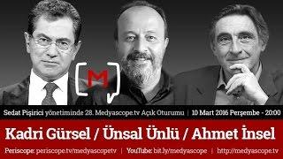 28  Medyascope.tv Açık Oturumu: Kadri Gürsel, Ünsal Ünlü ve Ahmet İnsel