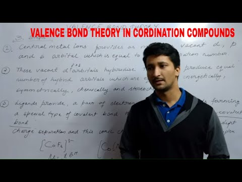 VALENCE BOND THEORY IN COORDINATION COMPOUNDS part 1 ( Lecture 4)
