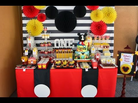 FIESTA DE MICKEY MOUSE |NIÑO| MESA DE DULCES |PARTY|FIESTA|2017|IDEAS|DECORACION|DIY