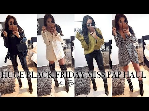 HUGE BLACK FRIDAY MISS PAP HAUL // & Try On