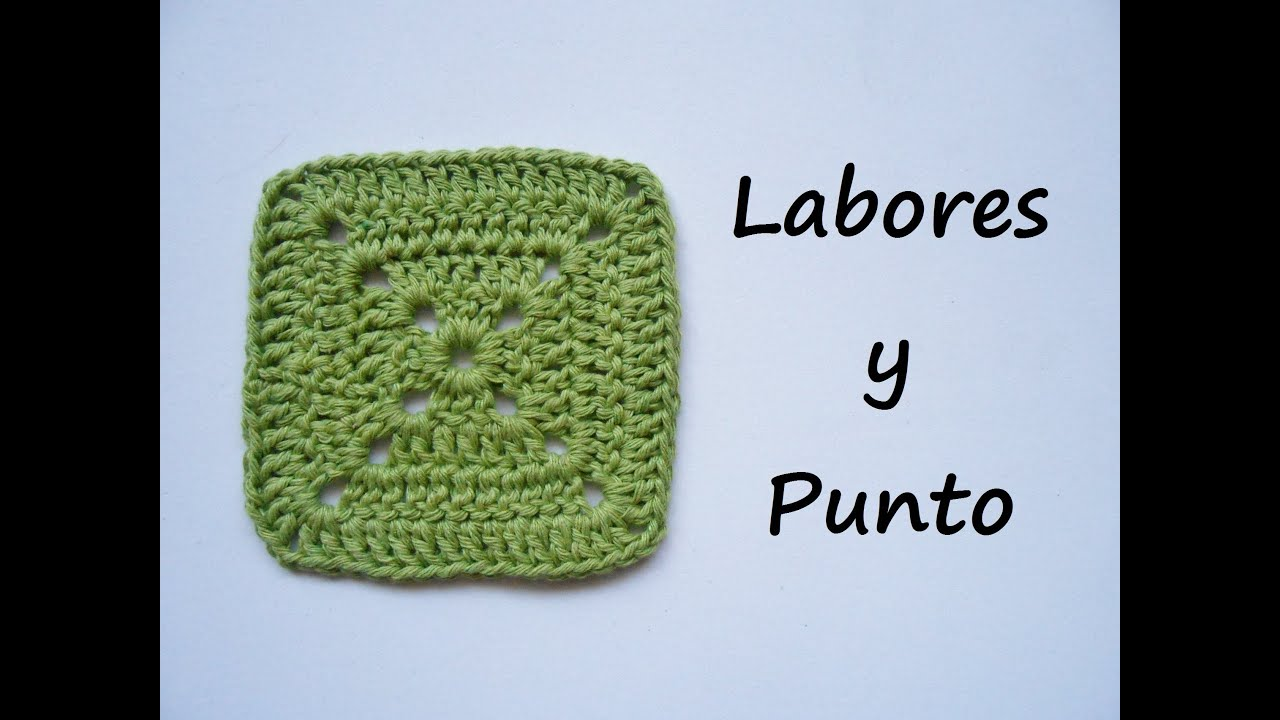 Como tejer este cuadrado patchwork 1 a ganchillo o crochet - YouTube