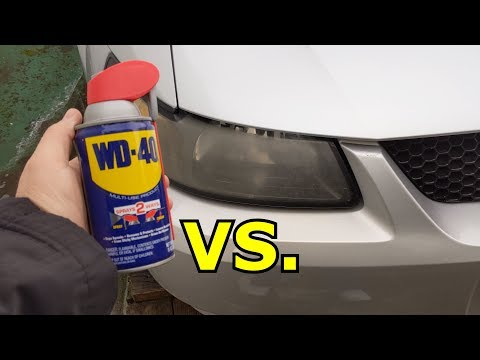 The TRUTH About WD-40 vs Headlights