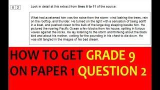 GCSE English Language Paper 1 Q2 the 'language' question
