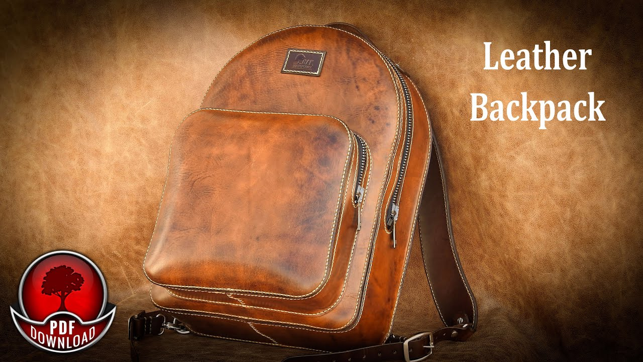 Leather Backpack Video Tutorial  Pattern / DIY Template by Oak Leathercraft