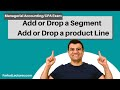 Add or Drop a Segment | Add or Drop a product Line | Managerial Accounting | CMA Exam | Ch 12 P 2