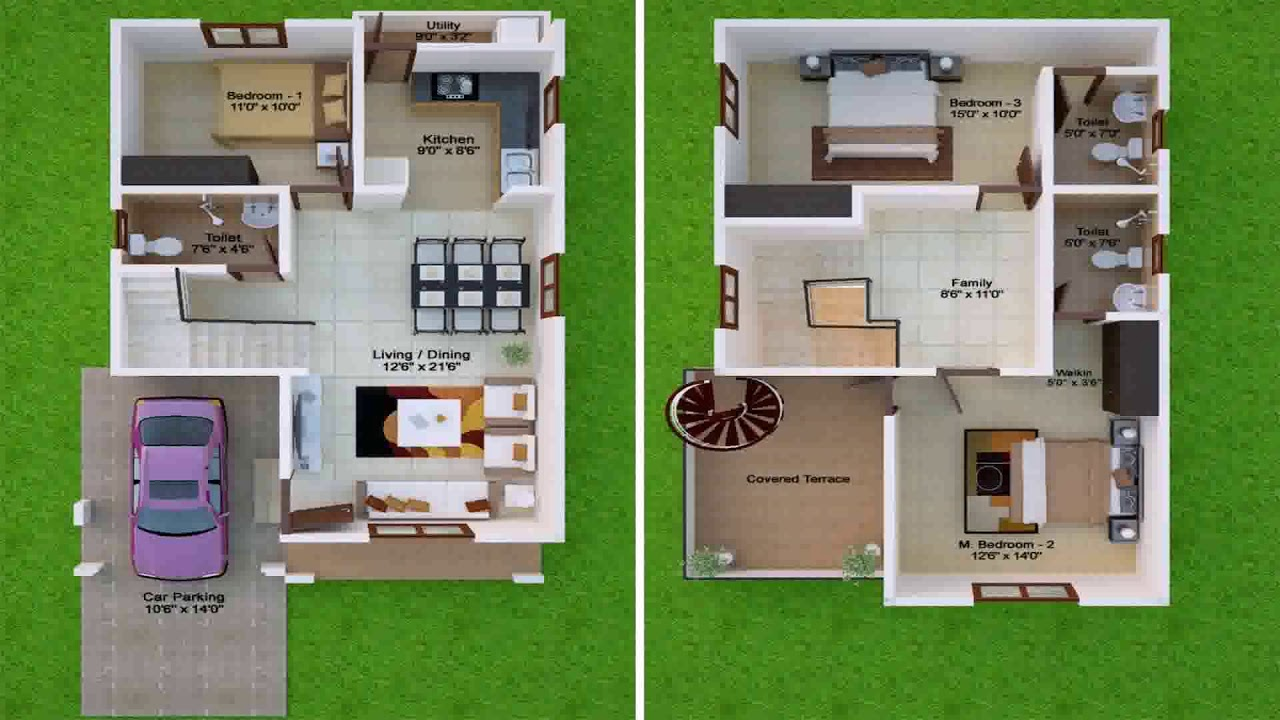 30x50 duplex house plans north facing youtube for 30x50 duplex house plans