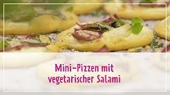 Mini-Pizzen mit vegetarischer Salami