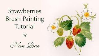 Strawberries Brush Painting Tutorial