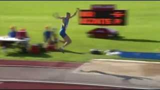 Павел Безнис 15.93 (6-я поп.) - European Athletics Junior Championships 2015 (Eskilstuna)