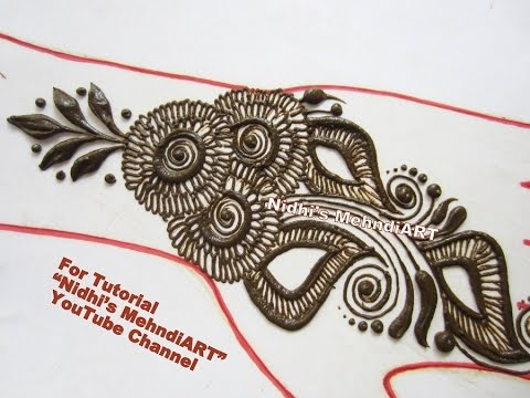 Mehndi Back Tattoo Designs : Best diy arabic henna tattoo designs tutorial easy back hand
