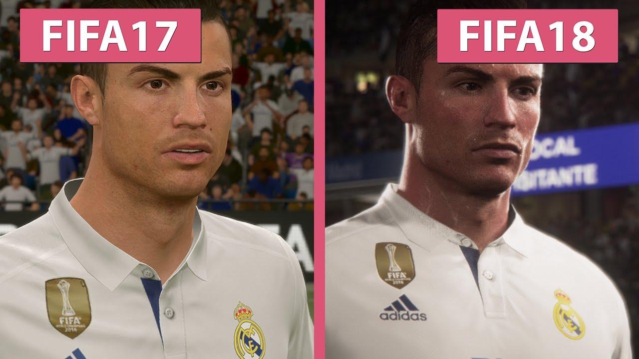 FIFA 18 Vs 17 Screenshots Trailer Comparison